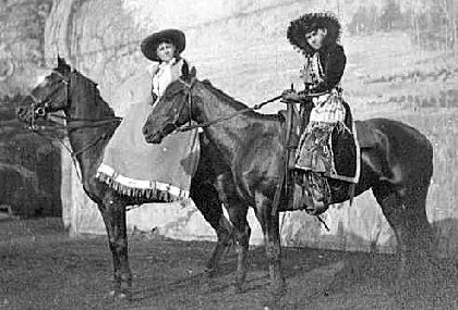 trick riders and ropers Georgia Duffy and Della Ferrell