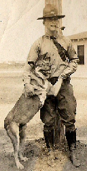 2nd Lt. Fred Hartman and a dog