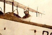 2nd Lt. Fred Hartman in biplane