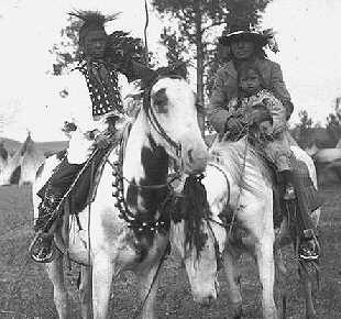 Sioux Indians on Medicine Hat horses