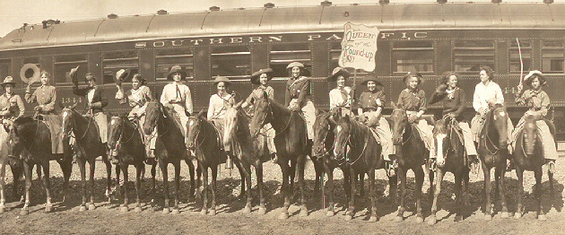 Cow Girls at the Pendleton, Oregon, Round Up in 1911