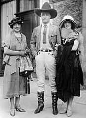 Tom Mix and admirers