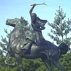 Sybil Ludington statue at Carmel, New York.