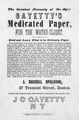 Advertising sheet for Gayetty's Medicated Paper