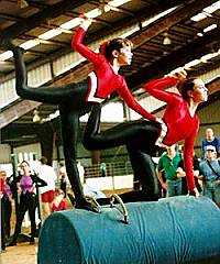 Topaz Vaulters at a barrel competition